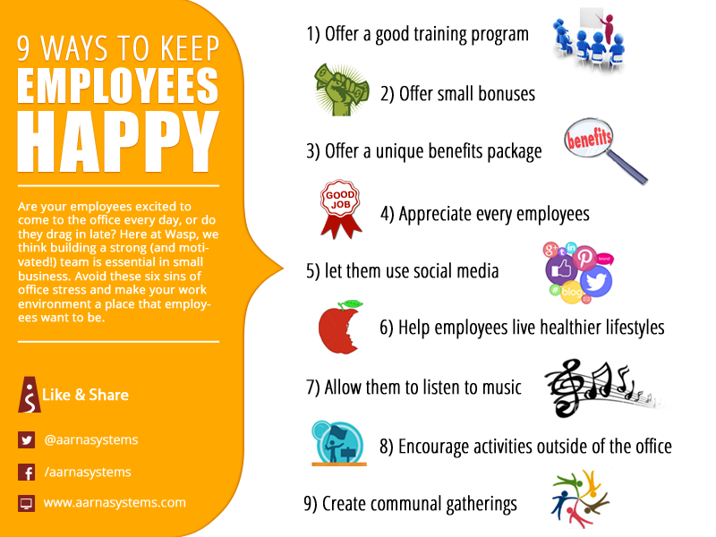 9 ways to keep employees happy daily pic aarna systems 9 ways to keep employees happy ccuart Image collections