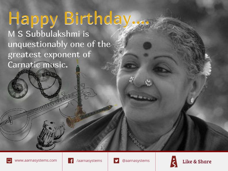 M S Subbulakshmi