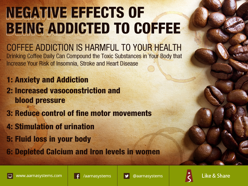 Negative effects of being addicted to coffee