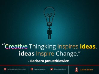 Creative thinking inspires ideas