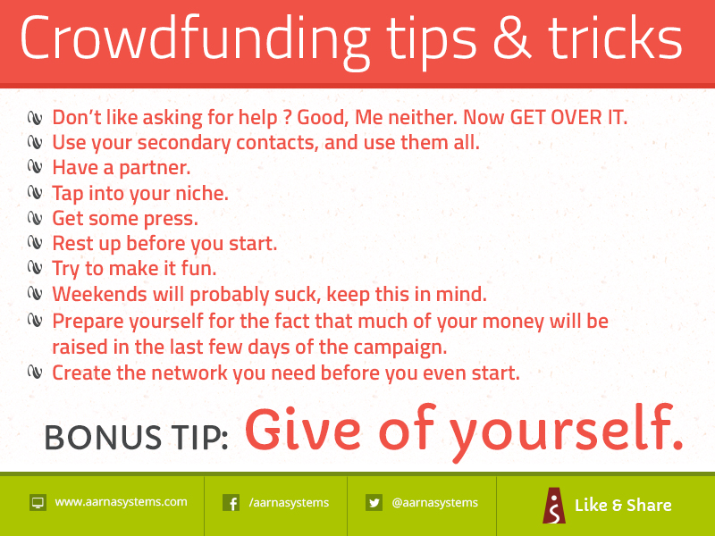 Crowdfunding tips and tricks