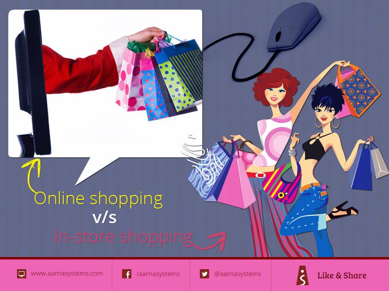 Online shopping v/s In-store shopping