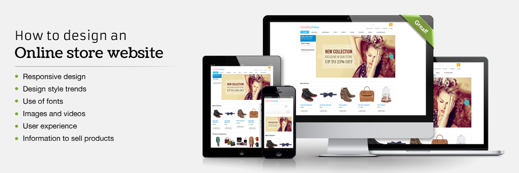How to design an online store website