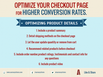 Optimize your checkout page for higher conversion rates